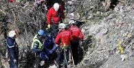Французские спасатели на месте крушения Germanwings A320 Airbus