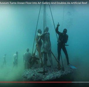 Подводные скульптуры: необычный музей открылся у острова Лансароте