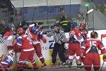 Драка на хоккее