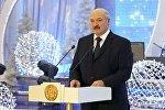 Александр Лукашенко на официальном приеме на старый Новый год