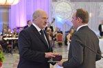 Глава государства Александр Лукашенко на официальном приеме на старый Новый год