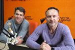 Председатель Белорусской федерации виндсерфинга Владимир Холодинский и участник национальной сборной по виндсерфингу Артем Джавадов