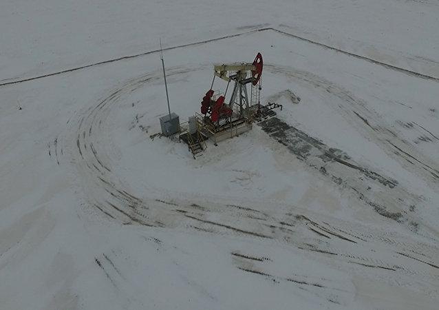 Как выглядит Угольское месторождение нефти с высоты птичьего полета