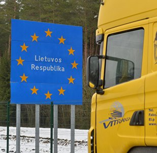Фура на белорусско-литовской границе