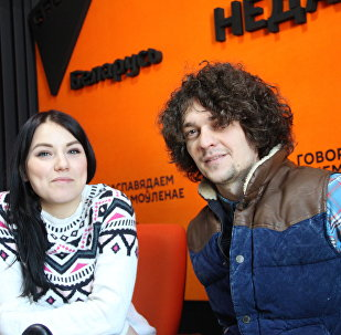 Група NAVI ў студыі радыё Sputnik Беларусь
