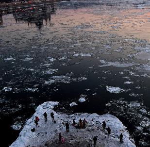 Замерзший Дунай