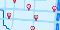 Где чаще всего стоит патрульная милиция в Бишкеке — карта
