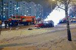 Пожар автомобиля в Гродно