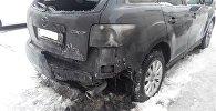 Пострадавшая в результате поджога Mazda