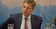 Мэр Риги Нил Ушаков на пресс-конференции в Минске