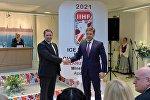 Мэры Минска и Риги Андрей Шорец и Нил Ушаков