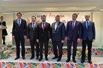 Участники пресс-конференции в Минске