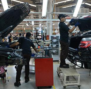 Конвейер завода BMW
