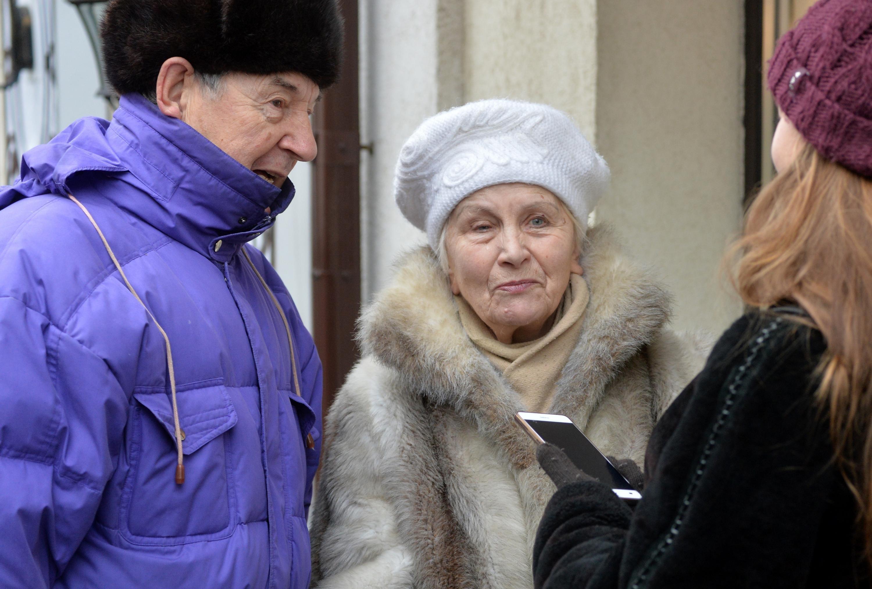 Ветераны дипломатической службы Сергей Хмельницкий и Раиса Загорская