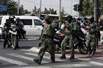 Полиция Израиля работает на месте теракта