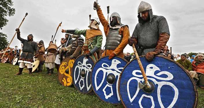 Рэканструкцыя эпохі вікінгаў, архіўнае фота