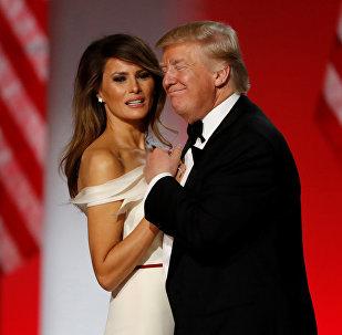 Президент США Дональд Дж. Трамп и первая леди Меланья Трамп