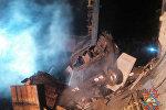 Последствия взрыва на гаражах в Мачулищах