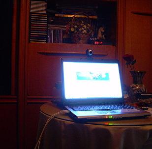 Включенный компьютер, архивное фото