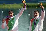 Спортсмены из Беларуси Андрей и Александр Богдановичи на Олимпийских играх 2012 года в Лондоне.