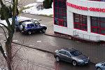 Милиция возле банка Москва-Минск