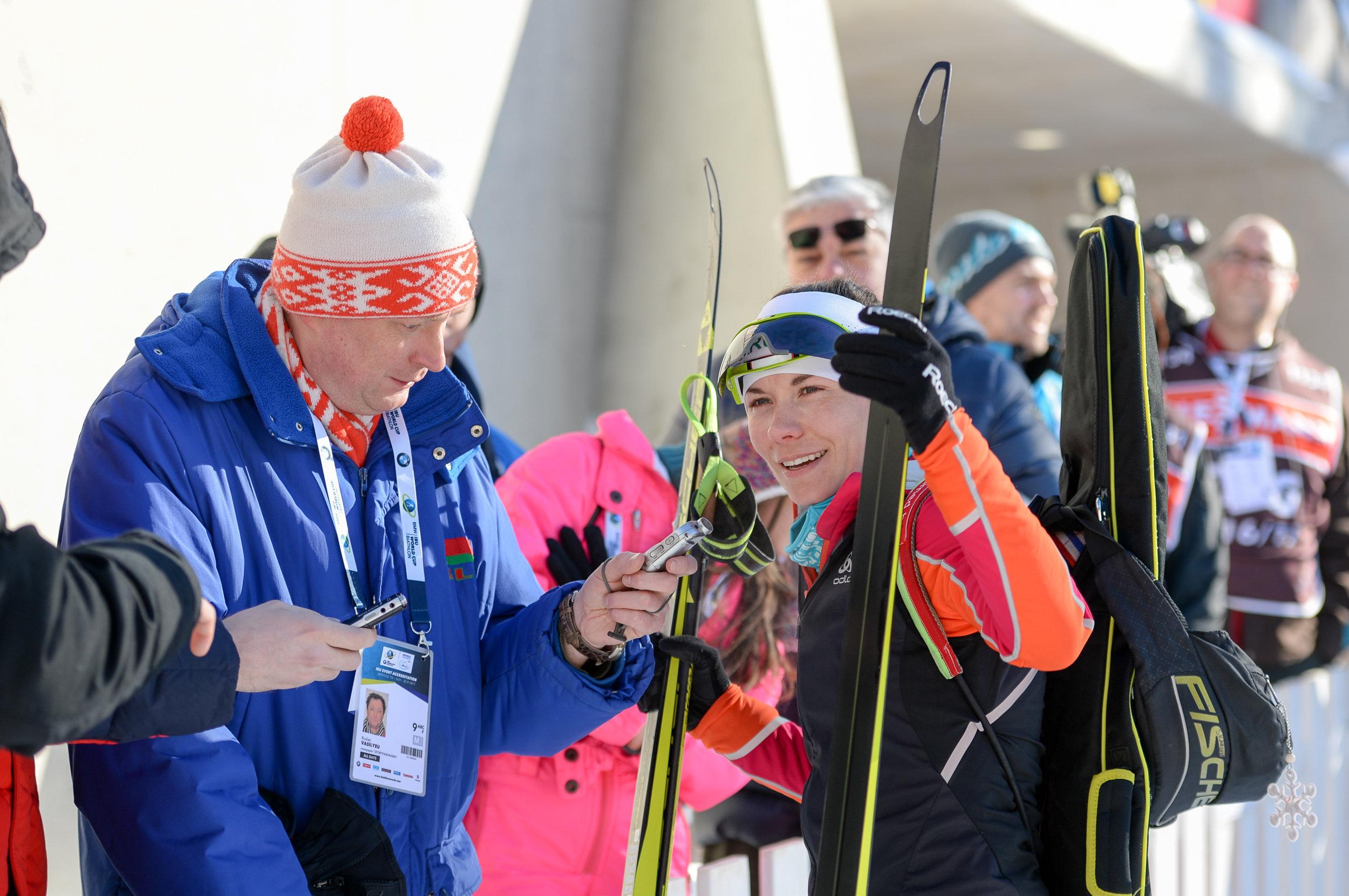 Скардино верит, что в воскресенье ей удастся побороться за высокие места в составе сборной в эстафетной гонке
