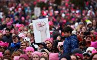 Марш женщин Вашингтона в американской столице
