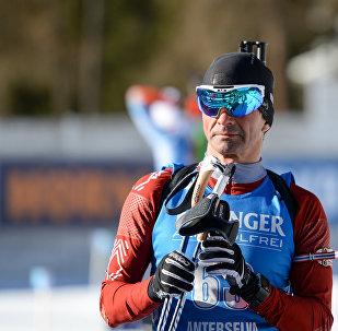Представитель сборной Латвии биатлонист Илмарс Брицис
