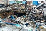 На месте взрыва в ГСК Автотурист в Мачулищах
