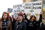 Активистки движения Femen во Франции, архивное фото