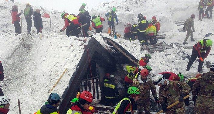 Изразрушенного лавиной отеля вИталии спасли 3-х щенков