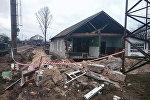 Обрушившийся дом в Василевичах
