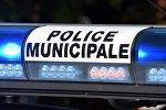 Автомобиль французской полиции, архивное фото