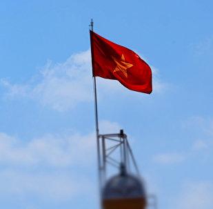 Флаг Демократической Республики Вьетнам, архивное фото