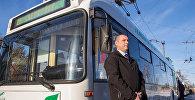В Гродно открыли первый в стране маршрут с бесконтактными троллейбусами