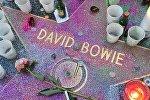 Звезда Девида Боуи на Аллее славы в Голливуде