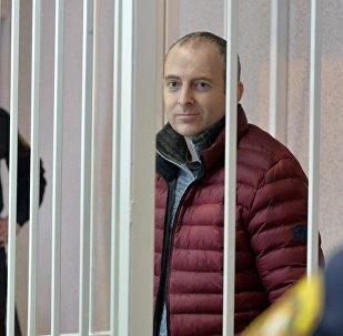 Блогер Александр Лапшин в зале суда