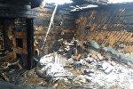 Последствия пожара в Толочинском районе