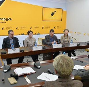 Пресс-конференция сотрудников Национального исторического музея в ММПЦ Sputnik