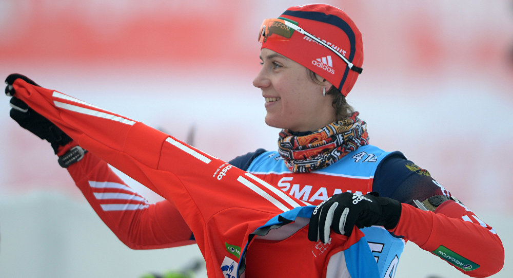 Русские биатлонисты одержали победу всмешанной эстафете начемпионате Европы