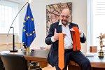 Кандидат в канцлеры, экс-глава Европарламента Мартин Шульц