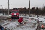 Брестские спасатели на заводе по переработке мусора
