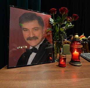 Прощание с Александром Тихановичем в Белгосфилармонии