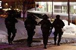 Канадская полиция возле мечети, где произошло нападение