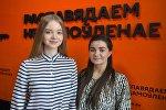 Участницы музыкального конкурса Ты супер Дарья Чернова и Анастасия Кравченя