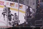 Игровой момент в Матче звезд НХЛ с участием Джастина Бибера