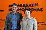 Директор Национального исторического музея Беларуси Олег Рыжков и заведующая фондовым отделом Музея истории театральной и музыкальной культуры Татьяна Бушева