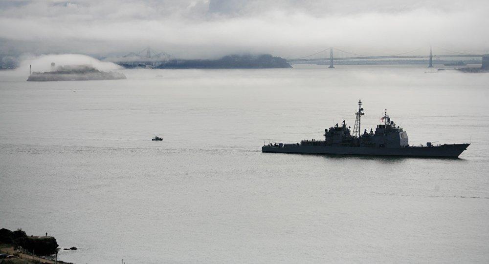 Ракетный крейсер ВМС США застрял вТокийском заливе