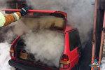 Пожар в гараже в Минске
