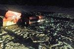 Место аварии в Лужском районе